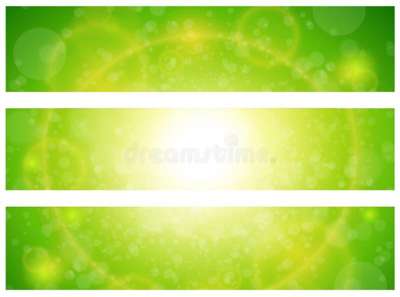 晴朗的绿色横幅 皇族释放例证