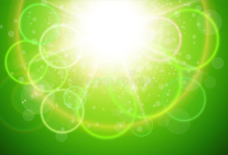 晴朗的绿色自然本底 库存例证