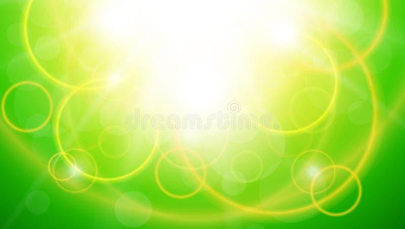 晴朗的绿色自然本底 向量例证