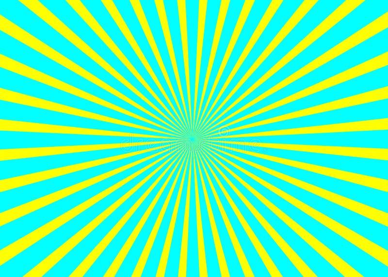 晴朗的背景 朝阳样式 传染媒介条纹摘要例证 旭日形首饰 向量例证