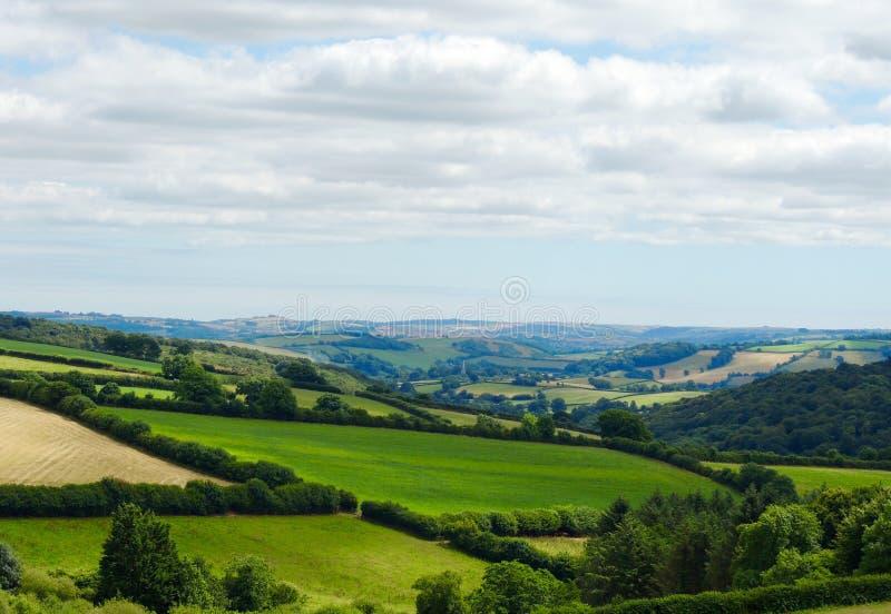 晴朗的英国乡下视图摄影 免版税库存图片