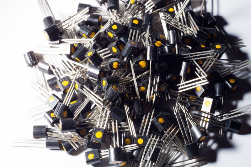 晶体管大堆  免版税库存照片