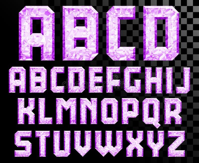 水晶信件字母表  向量例证