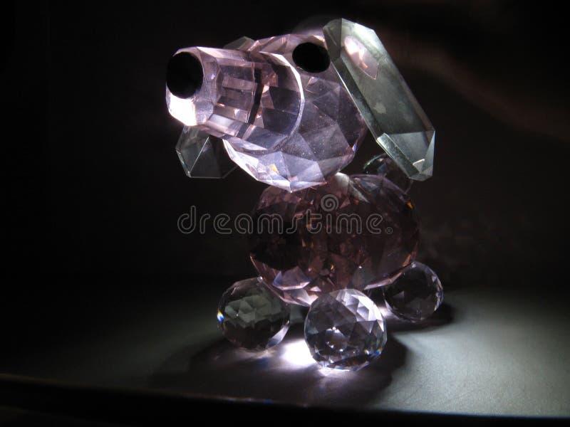 水晶小狗 库存图片
