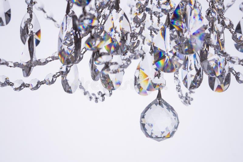 水晶枝形吊灯特写镜头 库存图片