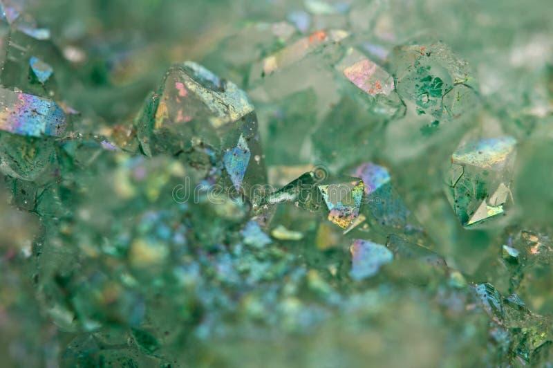 水晶玛瑙SiO2二氧化硅 宏指令 图库摄影