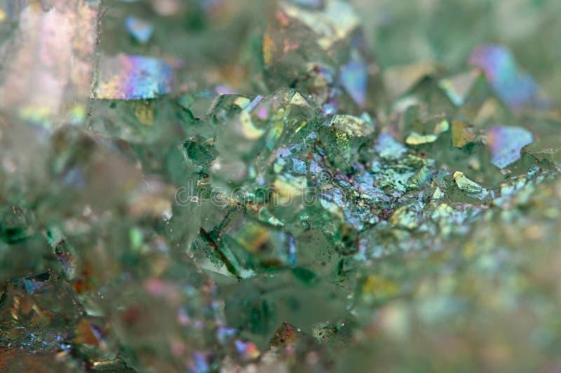 水晶玛瑙SiO2二氧化硅 宏指令 库存图片