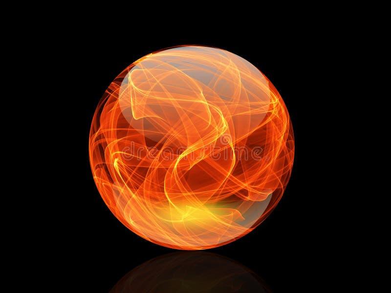 水晶球五颜六色典雅在抽象背景 向量例证