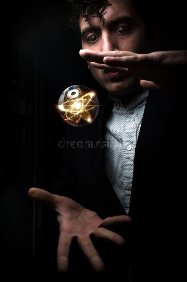 水晶球原子 库存照片