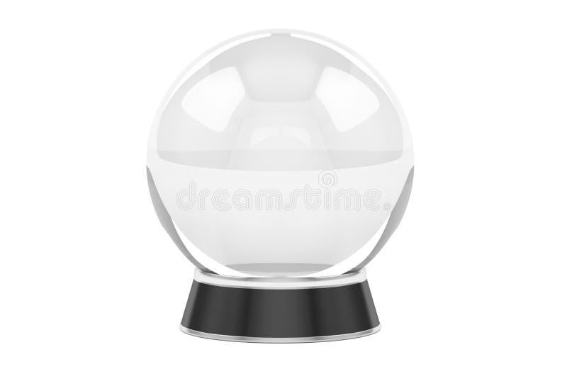 水晶球, 3D翻译 库存例证