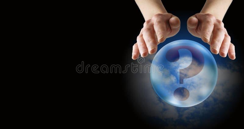 水晶球读书横幅 库存图片