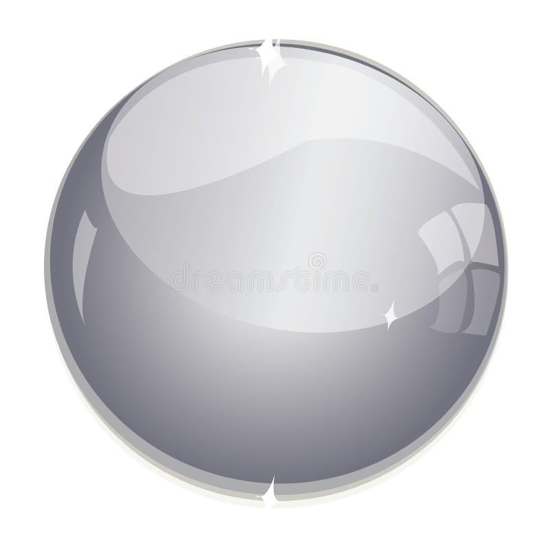 水晶球 皇族释放例证