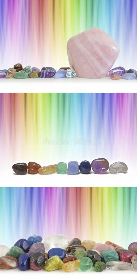 水晶疗法彩虹背景 库存图片