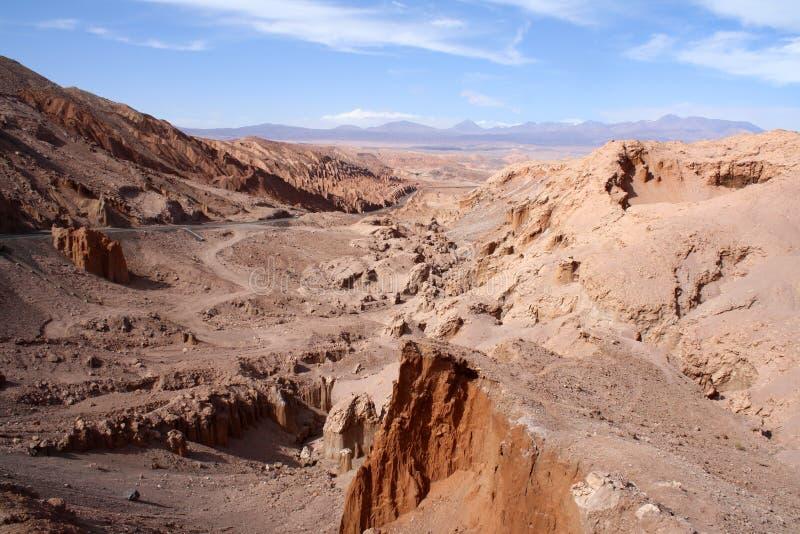 智利、阿塔卡马沙漠、死亡谷& x28; 瓦尔de la Muerte& x29; 免版税库存照片