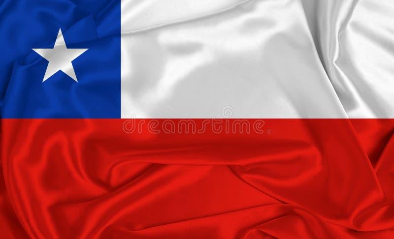 智利丝绸旗 图库摄影