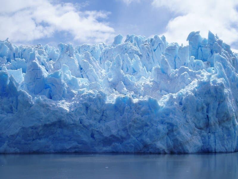 智利南部冰川的冰 免版税图库摄影