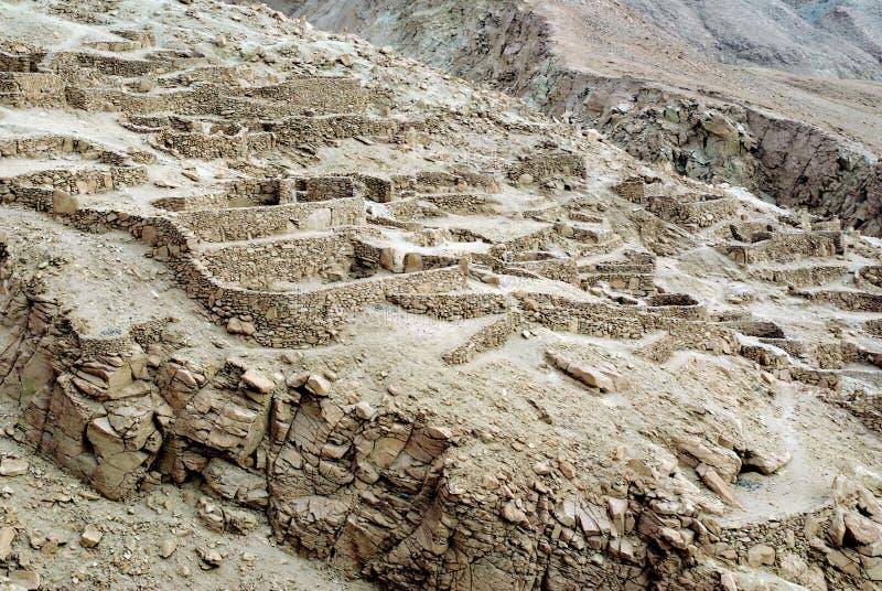 智利印加人废墟 免版税库存照片
