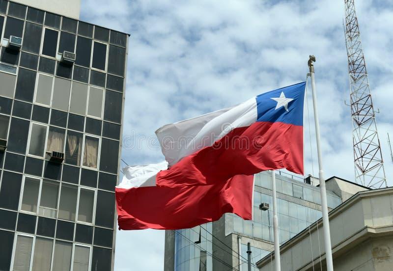 智利国旗 库存照片