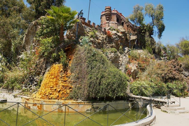 智利圣地亚哥圣卢西亚山堡 库存图片