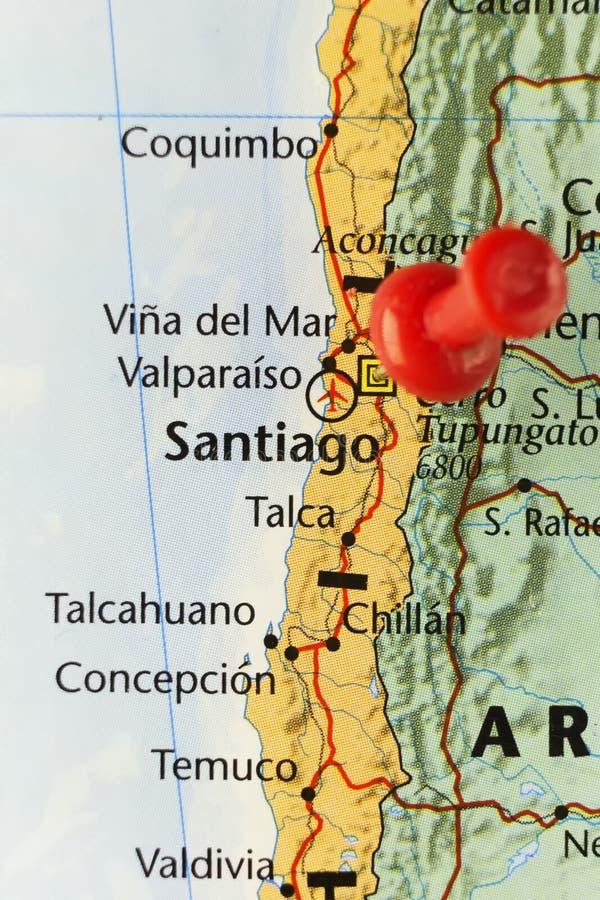 智利圣地亚哥首都 库存例证