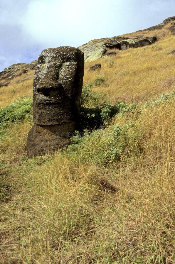 智利复活节岛moais 库存图片