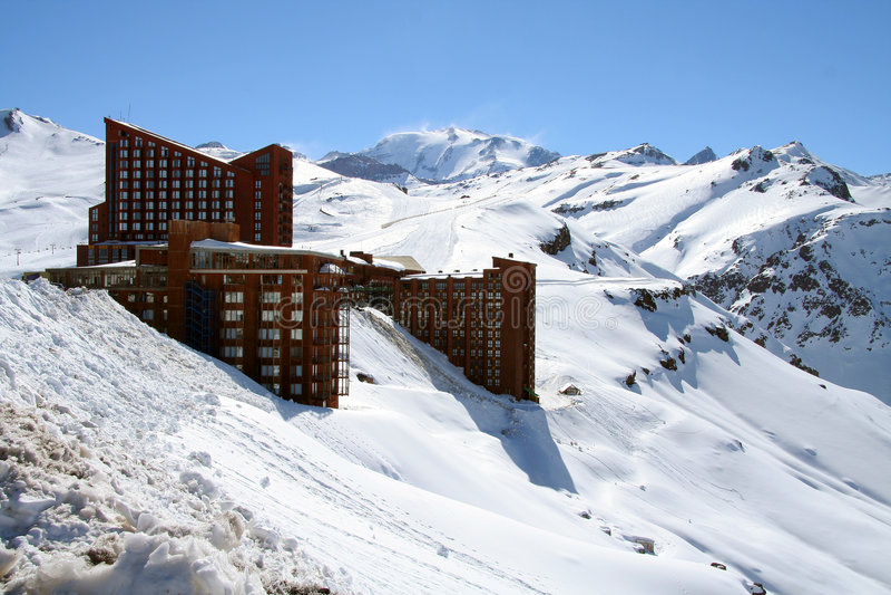 智利山坡旅馆 库存图片
