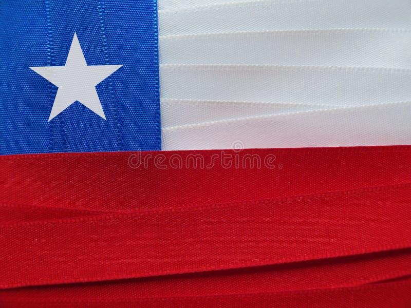 智利旗子或横幅 库存图片