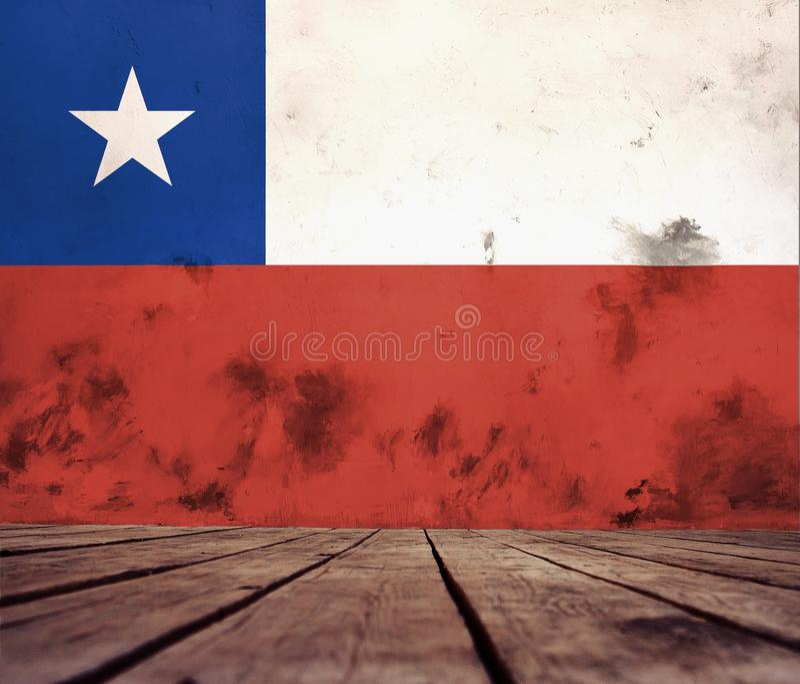 智利旗子纹理  图库摄影