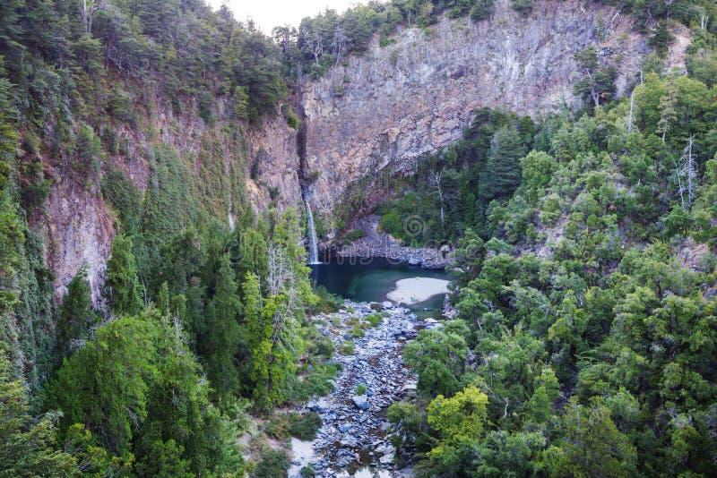 智利瀑布 库存照片