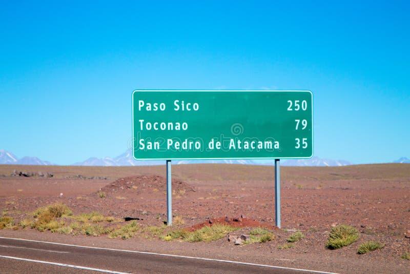 智利路标,智利 库存图片