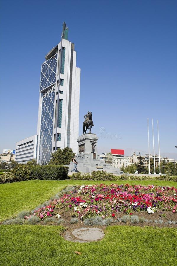 智利de意大利广场圣地亚哥 免版税库存图片
