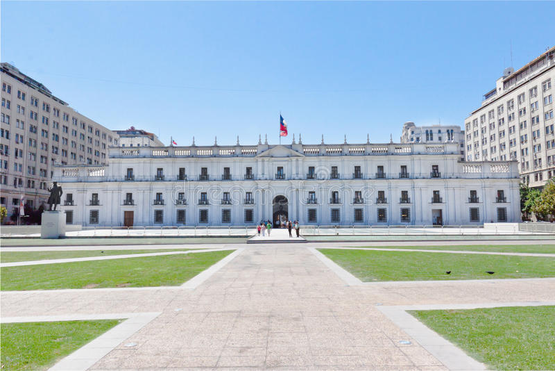 智利de执行la moneda palacio圣地亚哥 库存图片