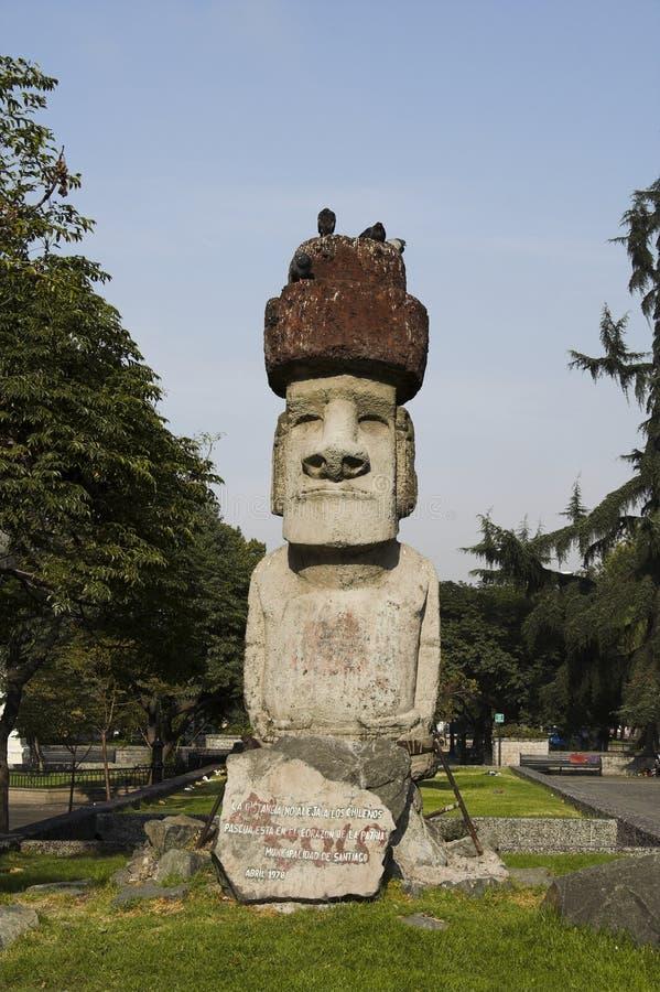 智利de moai圣地亚哥 库存图片