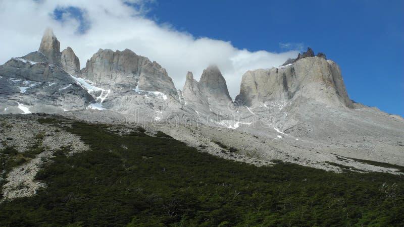 智利del paine torres 图库摄影