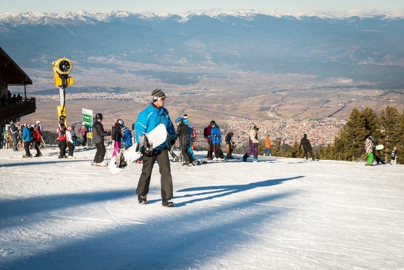 智利skii岗位 雪板运动和滑雪 图库摄影