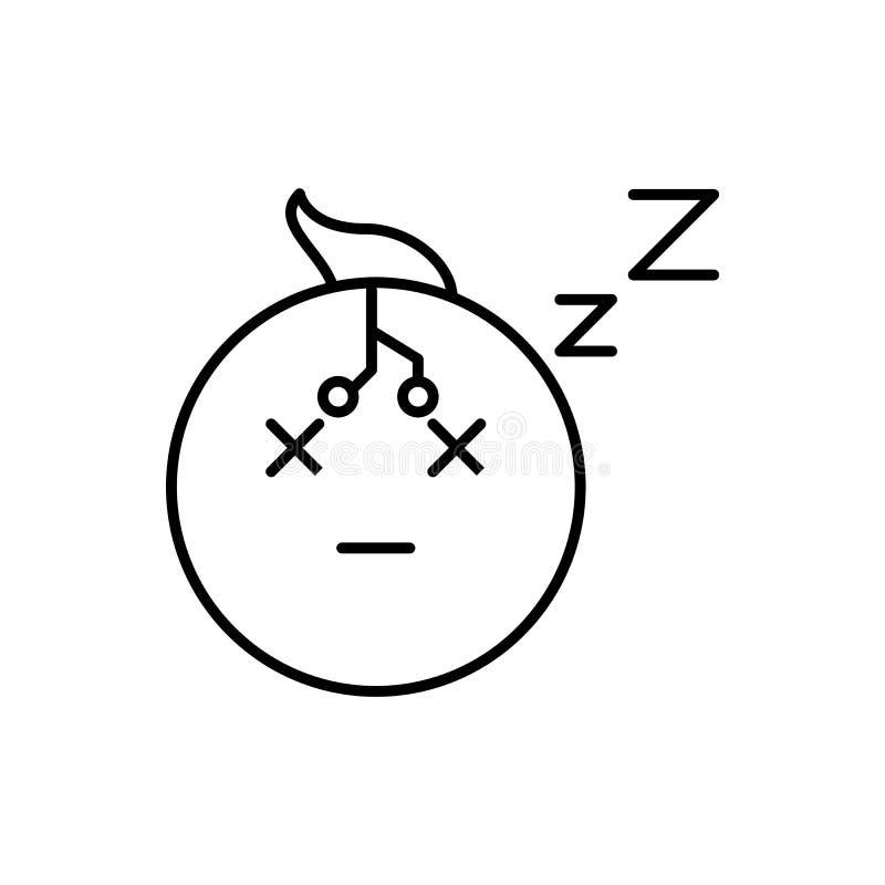 智力,打瞌睡,机器人象-传染媒介 r 向量例证