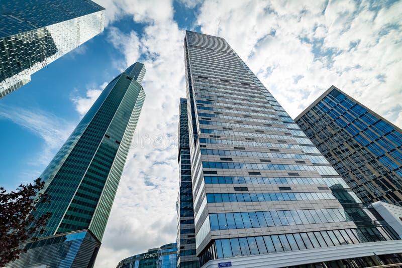 智商处所—'欧亚大陆'—摩天大楼高度309 m 库存图片
