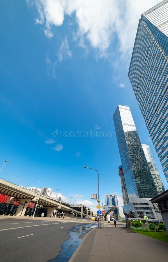 智商处所—位于莫斯科国际商业中心的第11个部分的多功能复合体 库存图片