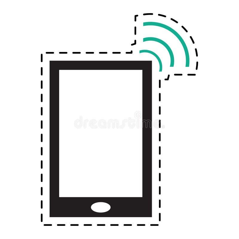 智能手机互联网连接数字式设备小点线 皇族释放例证