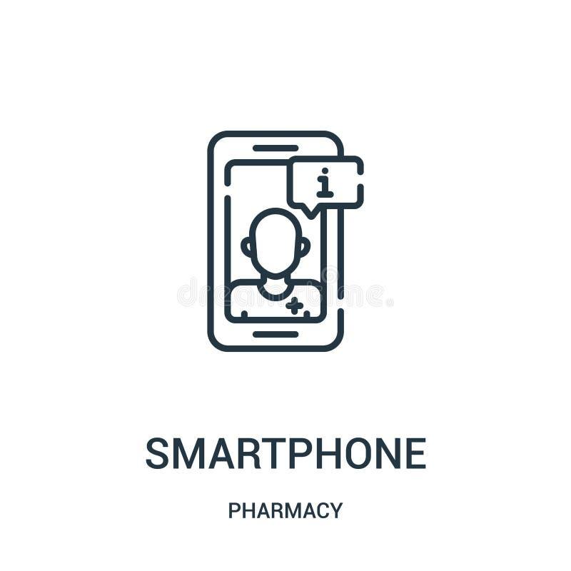 智能手机从药房汇集的象传染媒介 r 库存例证