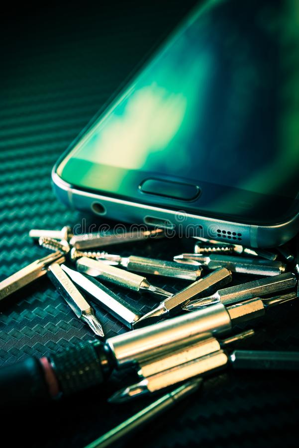 智能手机修理概念 免版税图库摄影