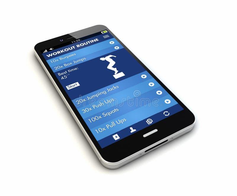 智能手机健身app回报 免版税库存照片