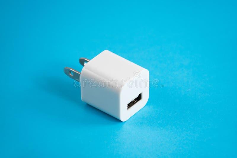智能手机充电器usb插座 库存图片