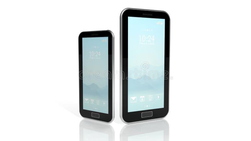 智能手机和片剂 库存例证