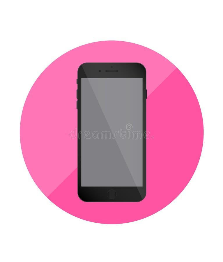 智能手机唯一平的象 应用的桃红色象 向量 皇族释放例证