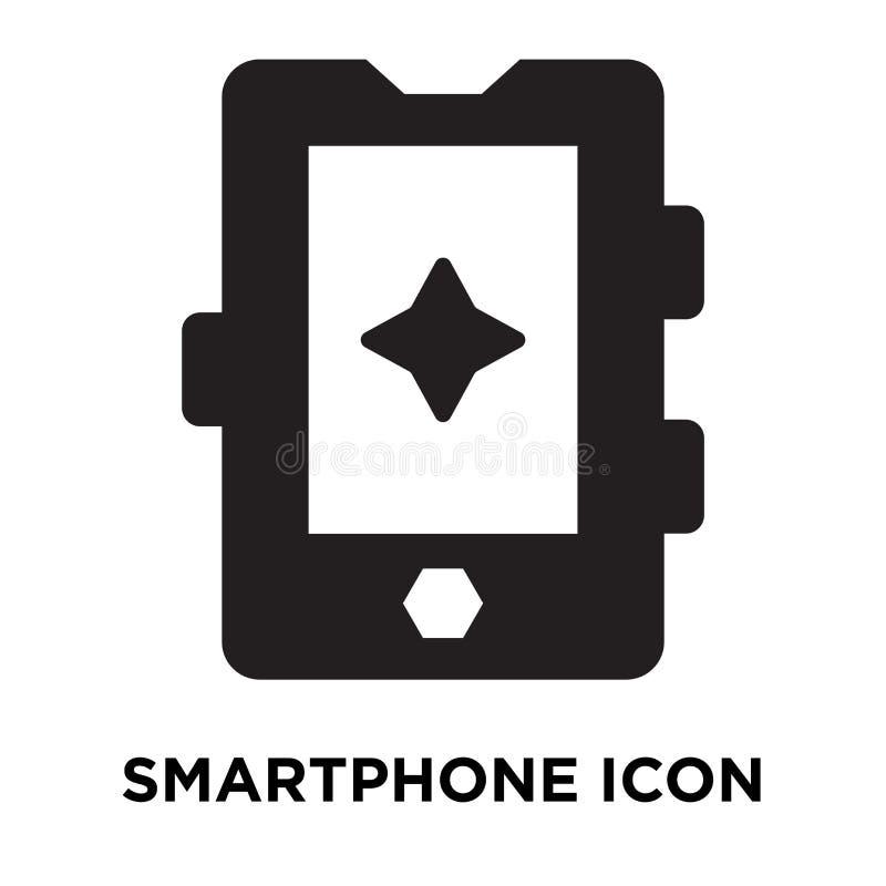 智能手机在白色背景隔绝的象传染媒介,商标concep 库存例证