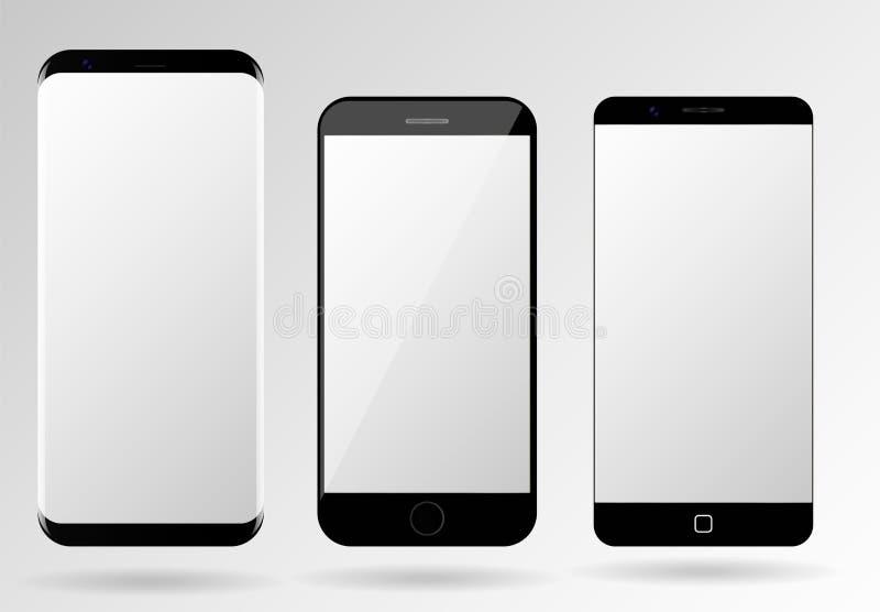 智能手机大模型空白手机模板 库存例证