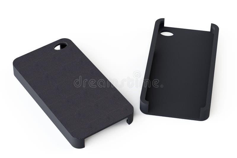 黑智能手机封底 免版税库存照片