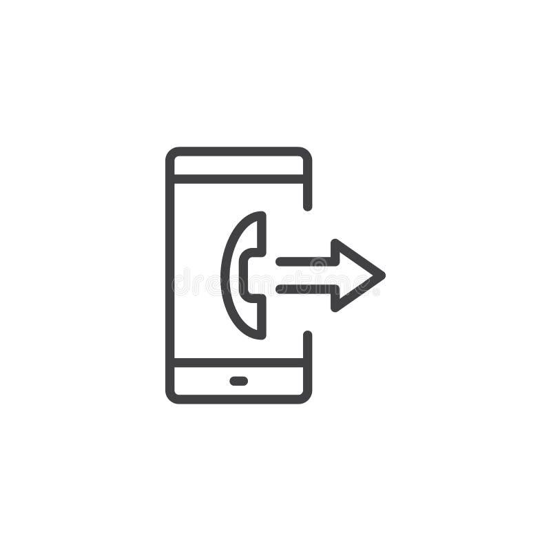 智能手机往外电话概述象 库存例证