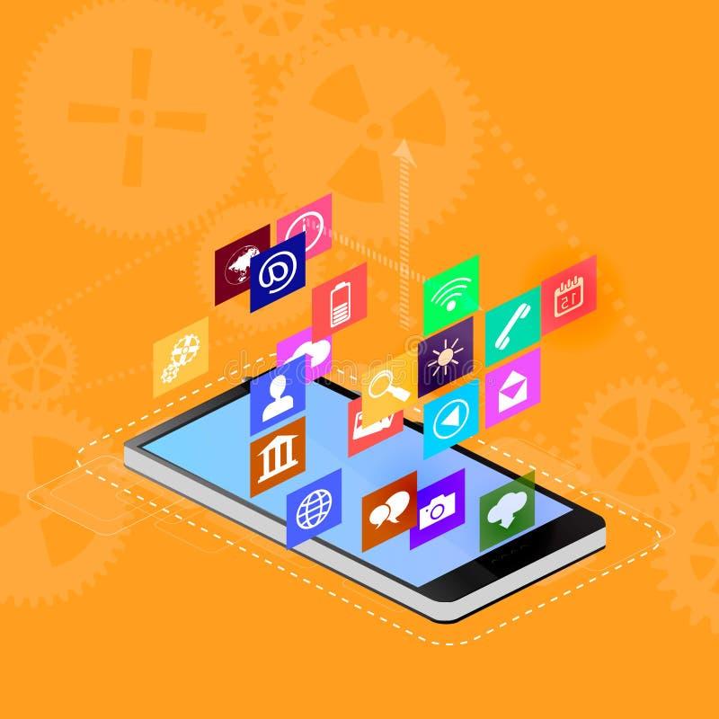 智能手机接口 向量例证